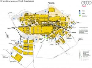 Lageplan Audi Ingolstadt
